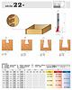 stopkové frézy zinkovací - série 22-
