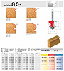 stopkové frézy zaoblovací vyduté s ložiskem - série 80-