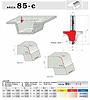 stopkové frézy zaoblovací - série 85-c